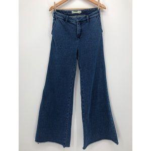 Anthropologie wide leg trouser jeans